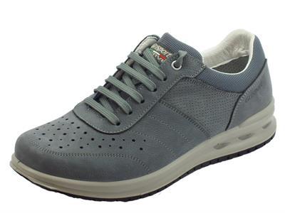 Articolo Grisport Active antistatiche scarpe uomo in pelle stampata grigia