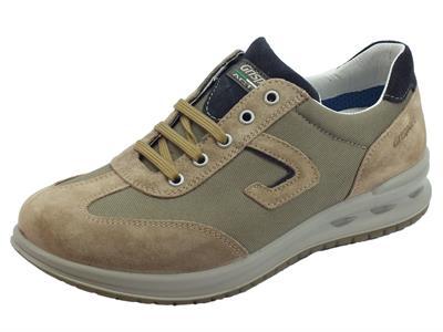 Articolo Grisport Active antistatiche scarpe uomo in scamosciato marrone e tessuto grigio