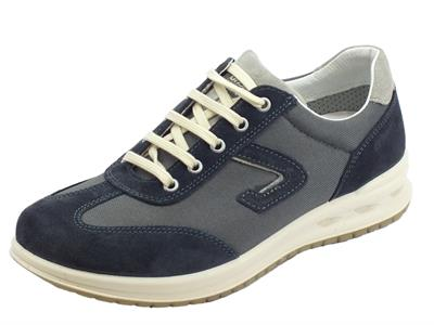 Articolo Grisport Active scarpe per uomo in camoscio e tessuto blu fondo antistatico