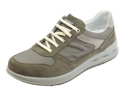 Articolo Grisport Active scarpe per uomo in camoscio e tessuto tortora fondo antistatico
