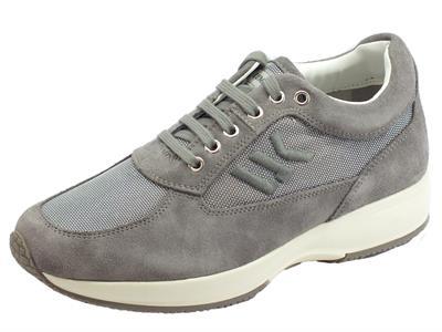 Lumberjack Raul SM01309-009 CD002 Lt Grey scarpe per uomo in nabuk e tessuto grigio chiaro