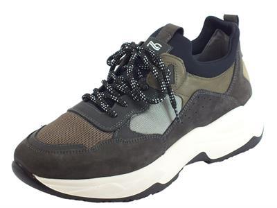 Articolo NeroGiardini A901272U Nabuk Antracite T. Dragon Sneakers Uomo in nabuk e tessuto