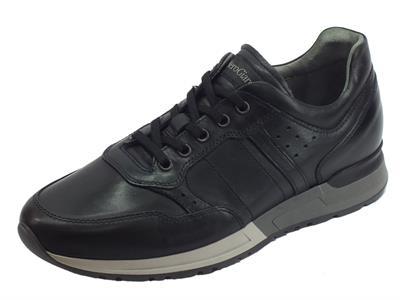 Articolo NeroGiardini A901190U Neopolis Nero sneakers stringate per uomo in pelle nera