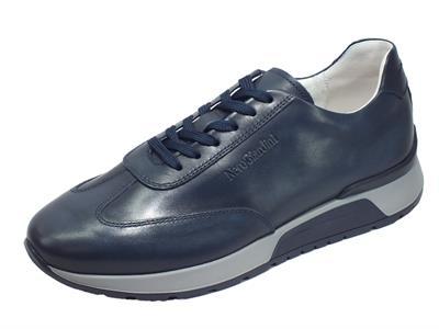 Articolo NeroGiardini E001481U Hold Delavè Blu Sneakers Uomo in pelle blu