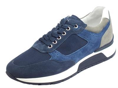 Articolo NeroGiardini E001482U Camo. Colorado Incant. Sneakers Uomo in camoscio e tessuto blu