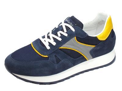 Articolo NeroGiardini E001500U Camo. Colorado Incant. Sneakers Uomo in pelle grigia e camoscio blu