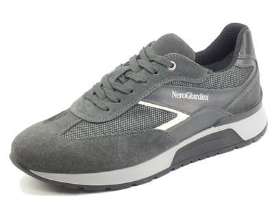 Articolo NeroGiardini I102140U Camo Colorado Grey Sneaker Sportive per Uomo in camoscio e tessuto