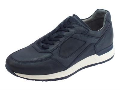 Articolo Nerogiardini scarpe per uomo in pelle morbidissima colore blu