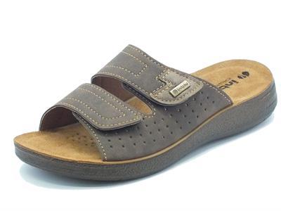 Pantofole InBlu per uomo colore testa di moro sottopiede pelle