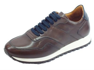 Scarpe Mercanti Fiorentini per uomo modello sportivo in pelle cioccolato