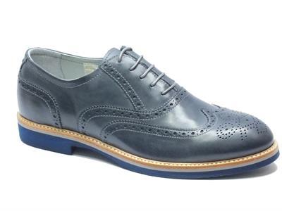 Scarpe Nero Giardini per uomo modello classico in pelle blu