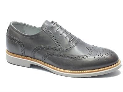 Articolo Scarpe Nero Giardini per uomo modello classico in pelle grigio fumo