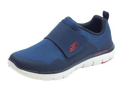 Articolo Scarpe Skechers GURN per uomo in tessuto blu con chiusura a strappo