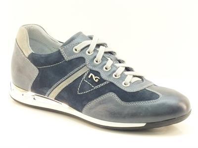 Scarpe sportive da uomo Nero Giardini in camoscio blu
