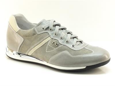 Scarpe sportive da uomo Nero Giardini in camoscio grigio