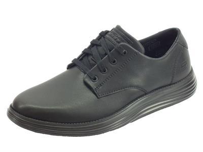 Articolo Skechers Classic Fit 65905/BBK Status Arleno Black Scarpe classiche per Uomo pelle nera