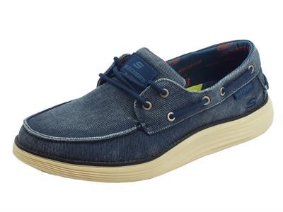 Articolo Skechers Classic FIT Status 2.0 Mosent scarpe uomo in tessuto blu