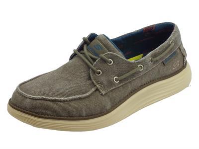 Articolo Skechers Classic FIT Status 2.0 Mosent scarpe uomo in tessuto taupe