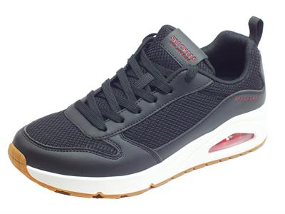 Skechers Street Los-Angeles 237016/BKRD Uno-FASTIME Black Red Sneakers Sportive per Uomo