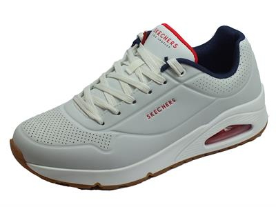 Articolo Skechers Street Los-Angeles 52458/WNVR Uno-STAND ON AIR White/Navy/Red Sneakers Sportive Uomo