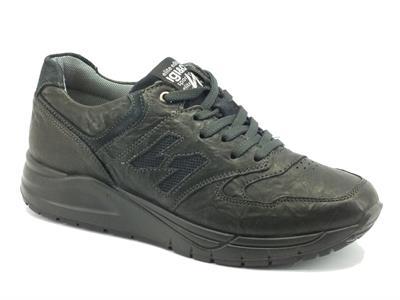 Articolo Sneakers per uomo Igi&Co in pelle stropicciata antracite