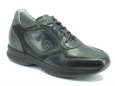 Articolo Sneakers per uomo NeroGiardini in pelle antracite