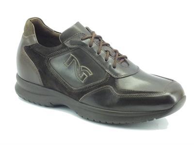 Sneakers per uomo NeroGiardini in pelle testa di moro