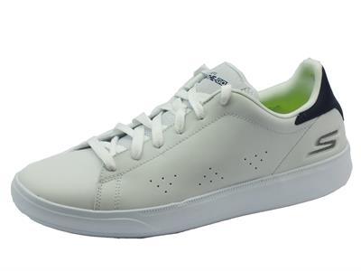 Articolo Sneakers Skechers per uomo in pelle bianca modello tennis