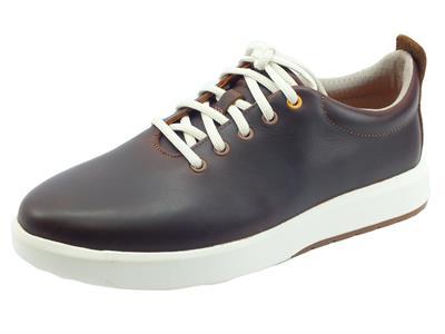 Articolo Timberland 0A24FA Truecloud Rust Full Grain Scarpe Sneakers per Uomo in pelle marrone con lacci