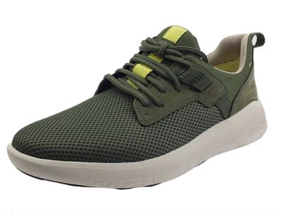 Articolo Timberland 0A2QAN Bradstreet Oxford Dark Green Scarpe Sneakers per Uomo in tessuto verde