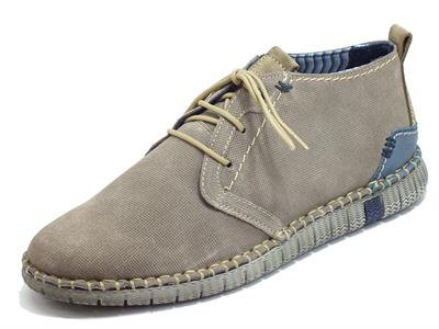Zen 077793 Tela Ermellino Scarpe per Uomo in camoscio Flex Light Eco Friendly Memory Confort