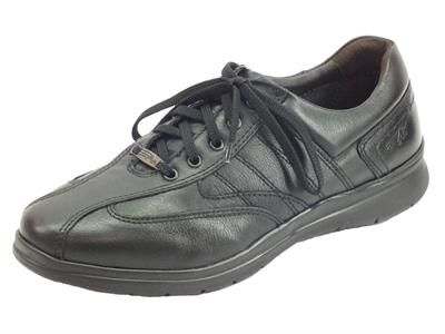 Articolo Zen Air 976983 Nero scarpa leggerissima per Uomo in pelle fondo flex air