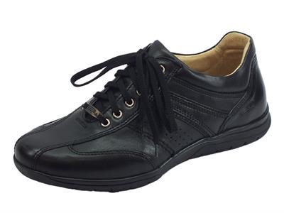 Articolo Zen Air scarpe in pelle nera per uomo sottopiede estraibile