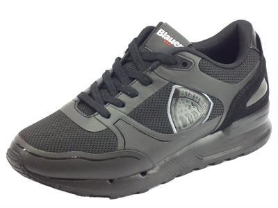 Blauer Tyler01 Blk Black scarpe sportive per uomo in tessuto nero