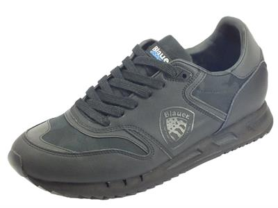 Blauer USA 9FMemphis06 Cal Black Sneakers uomo in pelle nera