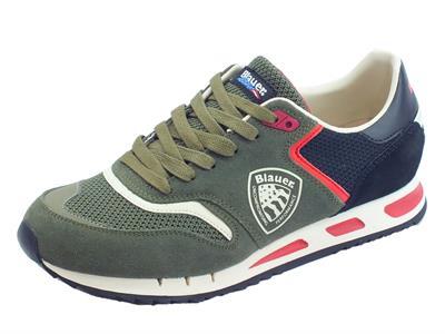 Articolo Blauer USA Memphis 06 scarpe sportive uomo military green