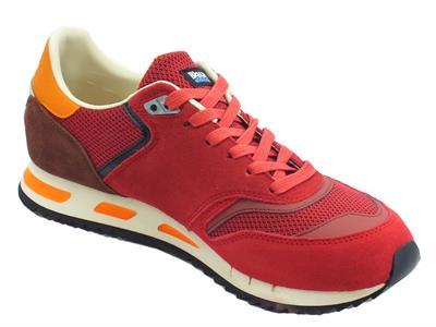 Dettagli su Blauer USA Memphis 06 scarpe sportive uomo rosso