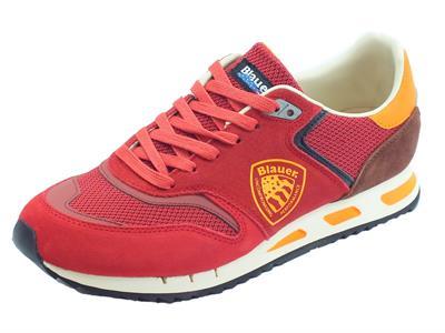 Blauer USA Memphis 06 scarpe sportive uomo rosso