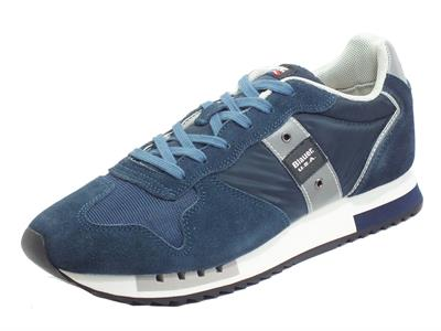 Articolo Blauer USA Queens01 Navy Sneakers sportive per Uomo in camoscio e tessuto