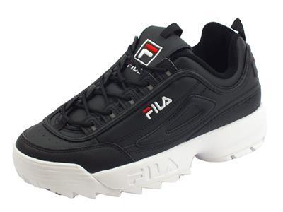 Articolo Fila 1010262.25Y Distruptor Low Black Scarpe sportive per uomo in ecopelle nera