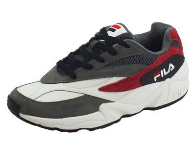 Articolo Fila 1010719.12K V94M L Low Monument Scarpe sportive per uomo ecocamoscio grigio bianco