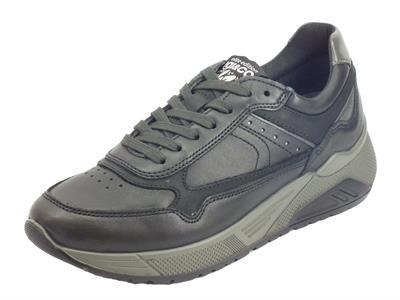 Articolo Igi&Co 4136300 Nappa Soft Nero Sneakers Uomo in pelle nera