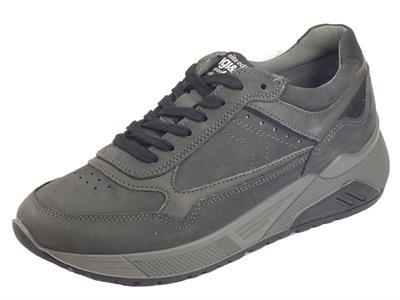 Articolo Igi&Co 4136311 Nabuk Soft Oil Grigio Sneakers Uomo in nabuk grigio