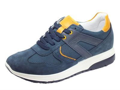Articolo Igi&Co 5129611 Nabuk Rete Azzurro Scarpe Sportive per uomo in nabuk blu