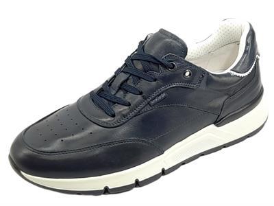 Articolo NeroGiardini E101992U Sauvage Blu Sneakers sportive per Uomo in pelle blu notte