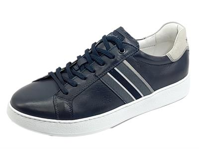 Articolo NeroGiardini E102010U Sauvage Blu Sneakers sportive per Uomo in pelle blu notte