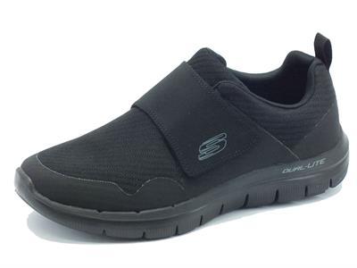 Articolo Scarpe Skechers Air-Cooled per uomo in tessuto nero chiusura a strappo