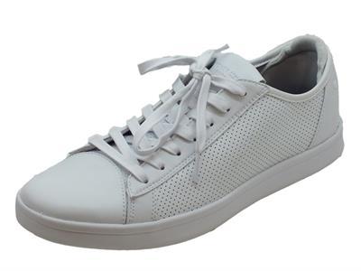 Scarpe Skechers Los Angeles per uomo modello tennis in pelle bianca