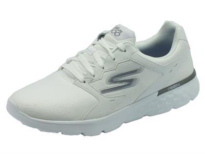 Scarpe Skechers Performance GO-RUN per uomo in ecopelle bianca