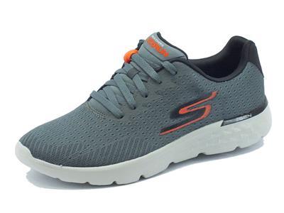 Scarpe Skechers Performance GO-RUN per uomo in tessuto grigio